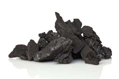 anthracite coal: fine image closeup of classic coal on white background