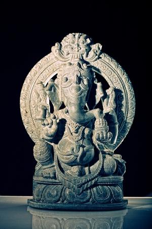 ganesh: prima close-up foto van Indiase sculptuur van god ganesh Stockfoto