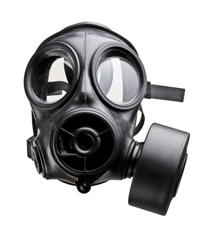 radiation pollution: fine image of classic british army gas mask