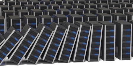 datacentre: fine 3d image of several server background