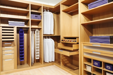 classic wood modern closet background Stock Photo - 9853035