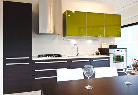 fine image of modern kitchen background Stock Photo - 9853032