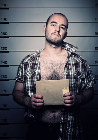 classic police photo of arrested criminal Stock Photo - 9853128