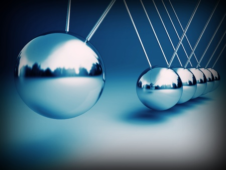 physics: newton cradle 3d ballancing balls fine background