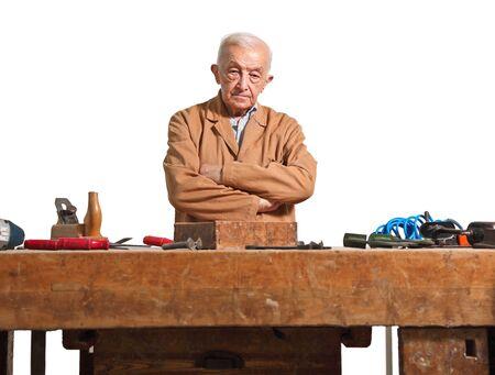 craftman: fine portrait of aged craftman