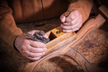 craftman: fine portrait of aged craftman detail