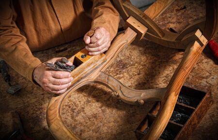 craftman: detail of classic vintage carpenter tool