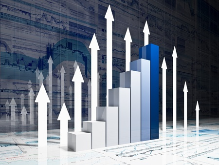 financial report: fine 3d image of financial business chart