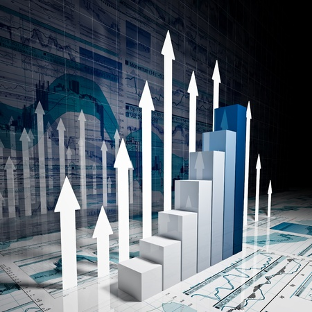 fine 3d image of business finance chart photo