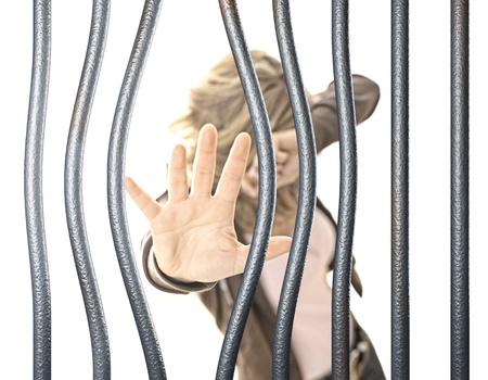 woman in prison selective focus image Stock Photo - 10095990