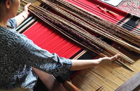 traditional malaysian loom detail photo
