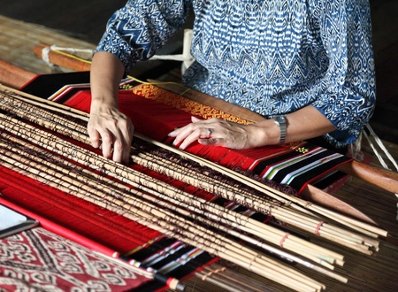loom: traditional malaysian loom detail Stock Photo