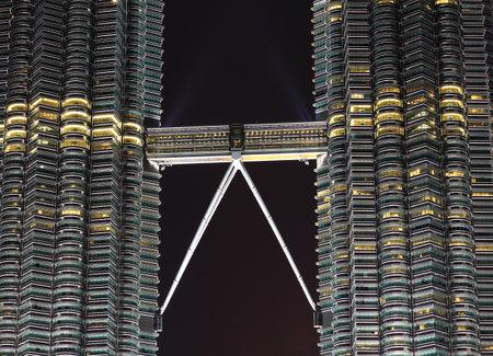 petronas tower kuala lumpur nightview