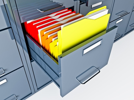fine 3d image of file cabinet folder photo