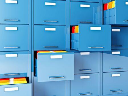 fine 3d image of file cabinet folder photo