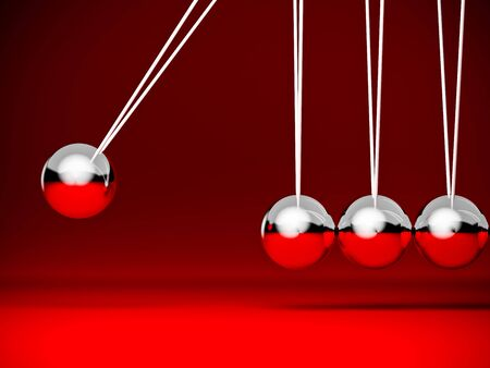 cradle: fine image of red classic newton cradle