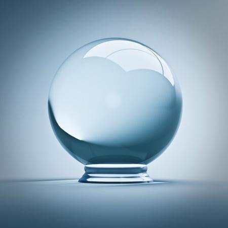 fijne render 3d lege kristallen bol