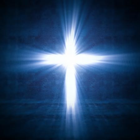 kruzifix: 3D-Bild des Kreuz aus Licht
