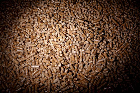 wood pellet: fine image of wood pellet Stock Photo