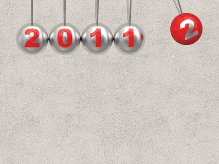 newton cradle: newton cradle 2012 and copyspace