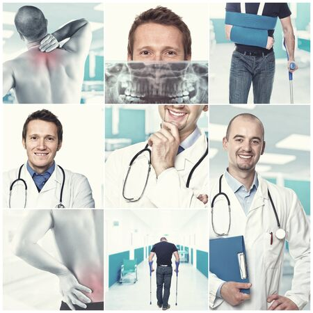 composition of medic and patient images photo