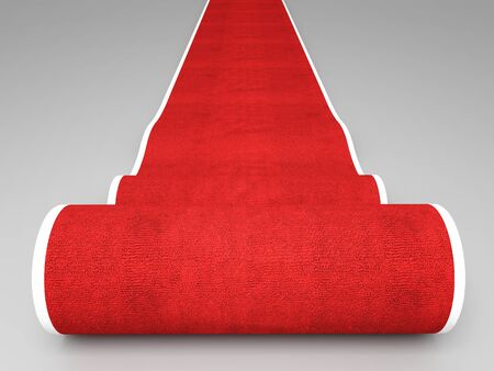 3d image of classic red carpet photo
