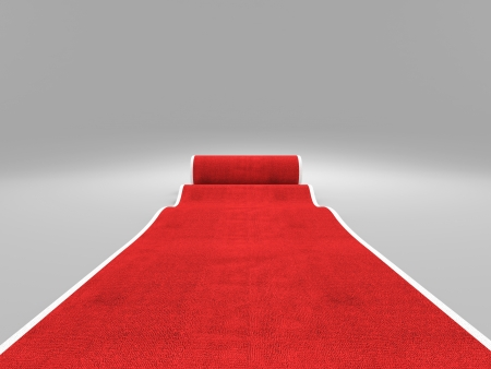 carpet: 3d image of classic red carpet