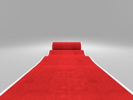 tapete: Imagem 3d do tapete vermelho cl�ssico