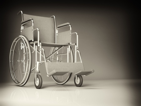 classic wheelchair 3d image background