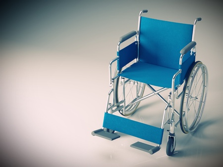 Wheel chair: classic wheelchair 3d image background