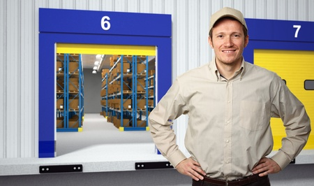 portrait of worker outside of classic warehouse Stock Photo - 12381388