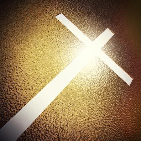 3d image og golden cross photo