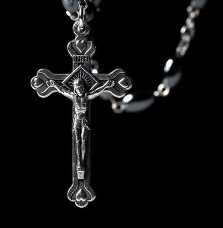 kruzifix: Metall-christian klassischen Rosenkranz Hintergrund