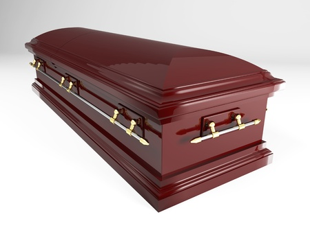3d image of classic coffin photo