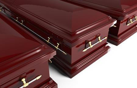 fine image of classic 3d coffin photo