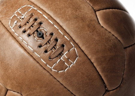 detail of leather soccer ball photo