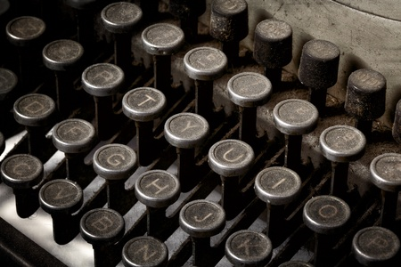 closeup of vintage typewriter keyboard photo