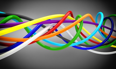 fine 3d background of cable Stock Photo - 12895995