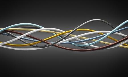 redes electricas: de cable del metal 3d finas fondo