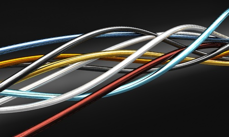 closeup of 3d metal cable background Stock Photo - 12896054