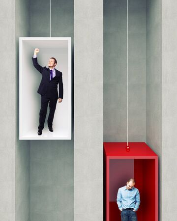 delusion: different man on 3d elevator