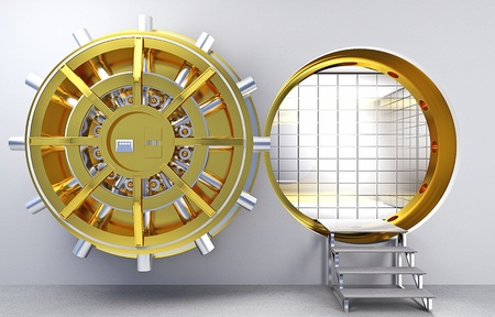 classic vault 3d golden colors Stock Photo - 13572049