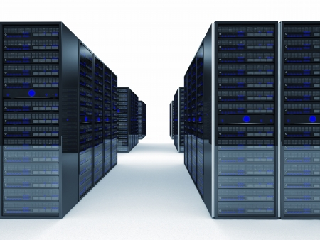 web server: fine image 3d of server