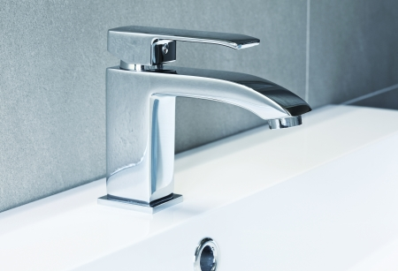 ta: modern ta in bathroom closeup image