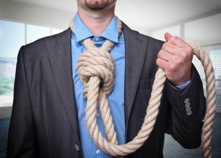 man want to suicide in his office photo