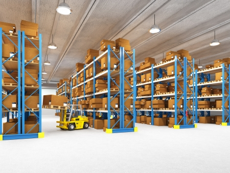 fine 3d image of classic warehouse Stock Photo - 13885108