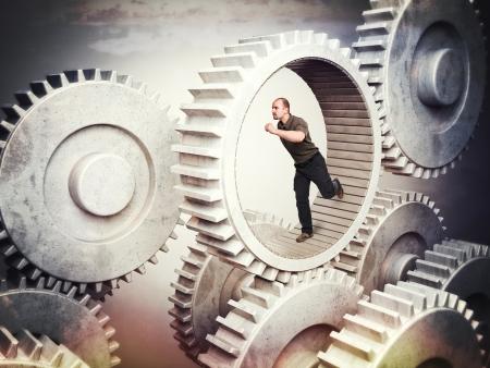 running man in 3d metal gear photo