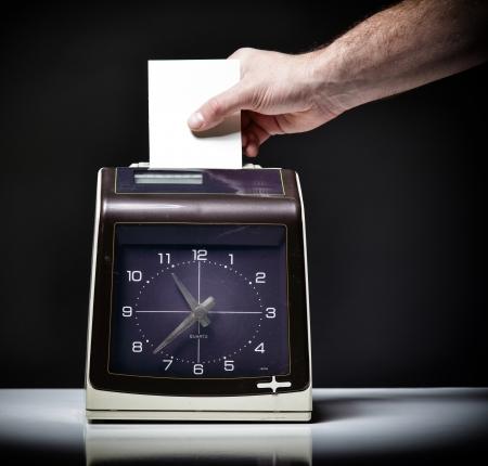 dutiful: image of vintage check clock Stock Photo