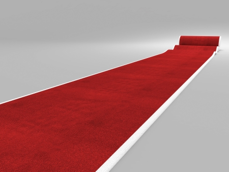 exclusivity: 3d image of classic red carpet