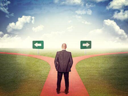2 way: standing man and 2 way street